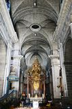 The Basilique Saint Sauveur Catholic church in downtown Rennes,  France Royalty Free Stock Image