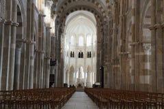 Basilique Sainte玛里马德琳de Vezelay教会在Vezelay 免版税库存照片