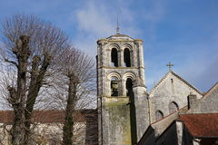 Basilique Sainte玛里马德琳de Vezelay教会在Vezelay 库存照片