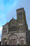 Basilique Sainte玛里马德琳de Vezelay教会在Vezelay 免版税图库摄影