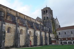 Basilique Sainte-Marie-Madeleine de Vezelay church in Vezelay. Vezelay, France-November, 19, 2016: Vezelay is one of the most beautiful village in France and is Stock Image