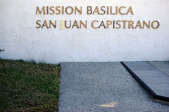 Basilique San Juan Capistrano de mission Image libre de droits