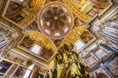 Basilique Santa Maria Maggiore Rome Italy de dôme de tabernacle photos libres de droits