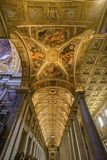 Basilique Santa Maria Maggiore Rome Italy de Nave de plafond images stock