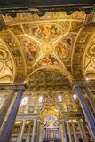 Basilique Santa Maria Maggiore Rome Italy de plafond d'autel de voûtes photographie stock