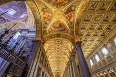 Basilique Santa Maria Maggiore Rome Italy large de Nave photographie stock