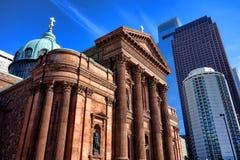 Basilique solides solubles de cathédrale Peter et Paul Philadelphia Image stock