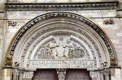 Basilique of St. Mary Magdalene in Vezelay Abbey. Burgundy, France stock image