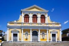 Basilique St Pierre & St Paul i Pointe-à- Pitre, Guadeloupe Royaltyfria Foton