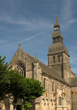 Basilique Ste-Sauveur in Dinan Stock Image