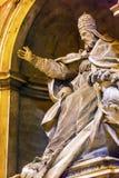 Basilique Vatican Rome Italie du ` s de pape Papal Statue St Peter image stock