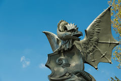 A Basilisk statue in Basel, Switzerland Stock Image