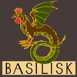 Basilisk with title Stock Photos