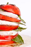 basilu caprese mozzarelli sałatki pomidor Zdjęcia Stock