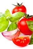 basilu czosnku pachino pomidor Obraz Stock