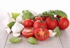 basilu czosnku pomidor Zdjęcia Stock