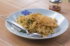 basilu jajko smażący wieprzowiny ryż Zdjęcie Stock