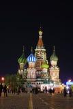 basilu katedralny Moscow noc s st Zdjęcie Stock