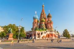 basilu katedralny Moscow plac czerwony st Zdjęcia Stock