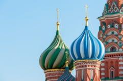 basilu katedralny Moscow plac czerwony st Obrazy Royalty Free