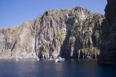 Basiluzzo, Эоловы острова в Сицилии стоковое фото rf