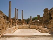 The basin. Basin in antic spa in Laptis Magna in Lybia Royalty Free Stock Photo