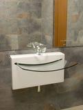 Basin. Modern basin in a bathroom stock images