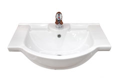 Basin. Bathroom basin isolated, with outline path stock images