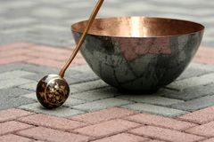 Basin. Copper basin made in china royalty free stock photography