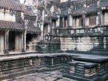 A basin at Angkor Wat, Cambodia Royalty Free Stock Photos
