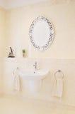 Basin in the bathroom Stock Photography