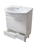 Basin with cabinet. File includes clipping path Stock Photo