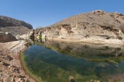 Basin in canyon. Socotra island Royalty Free Stock Photography