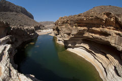 Basin in canyon. Socotra island Royalty Free Stock Photos