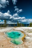 Hot water natural pool in Yellowstone NP Stock Photo