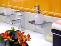 Basin and faucet royalty free stock image