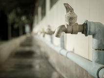 Basin Faucet In rural schools. Shortage of water . Royalty Free Stock Images