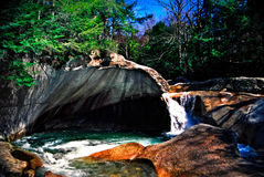 The basin, New Hampshire. Franconia Notch, north of the Flume. Called The Old Man's Foot Basin, the Basin may lack size, but makes up for it in geological Stock Images