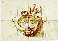 Basin of the old baths Royalty Free Stock Image