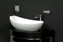 Basin over black Royalty Free Stock Photo