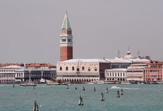 Basin of San Marco. A View of Venice - Italy stock image