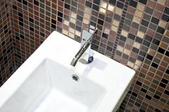 Basin and tiles Royalty Free Stock Photos
