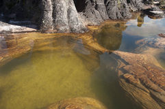 Basin on the top of Roraima plateau Royalty Free Stock Photo