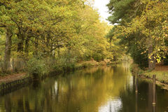 Basingstoke canal path Royalty Free Stock Photos