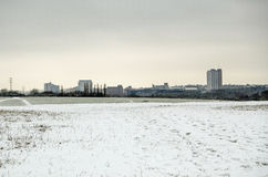 Basingstoke dans la neige Images stock