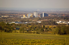 Basingstoke from Farleigh Wallop Royalty Free Stock Photos