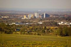 Basingstoke från den Farleigh råsopet Royaltyfria Foton