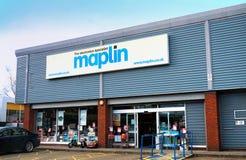 Basingstoke, het UK - 24 Februari 2017 - Ingang aan Maplin Elec Royalty-vrije Stock Foto's