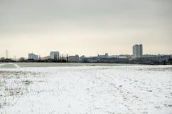 Basingstoke i snön Arkivbilder