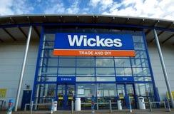 Basingstoke, R-U - 9 mars 2017 : Extérieur du commerce a de Wickes Photographie stock